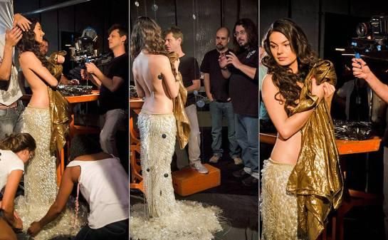 Os bastidores das gravações do teaser de O Canto da Sereia, que entra no ar no dia 19 de dezembro